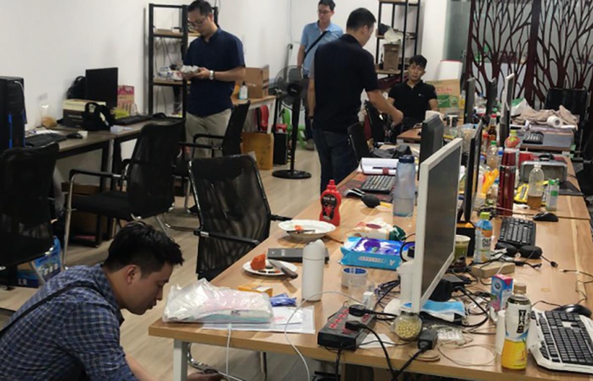Đường dây đánh bạc online hơn 64.000 tỷ đồng tại Việt Nam bị triệt phá hồi tháng 5/2020. Ảnh: Công an cung cấp