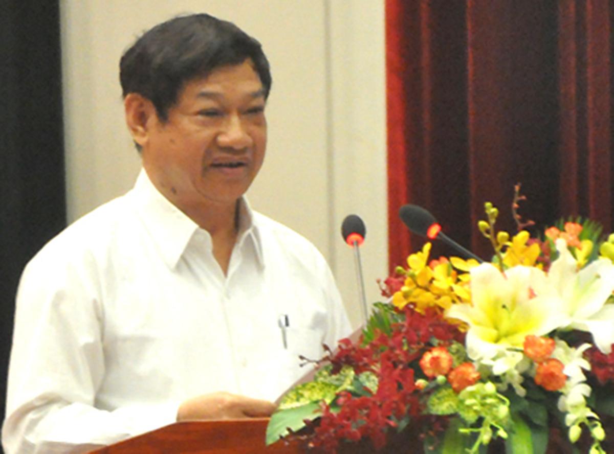 Ông Liên Khui Thìn trong hội nghị do Công an TP HCM tổ chức năm 2014. Ảnh: Quốc Thắng.