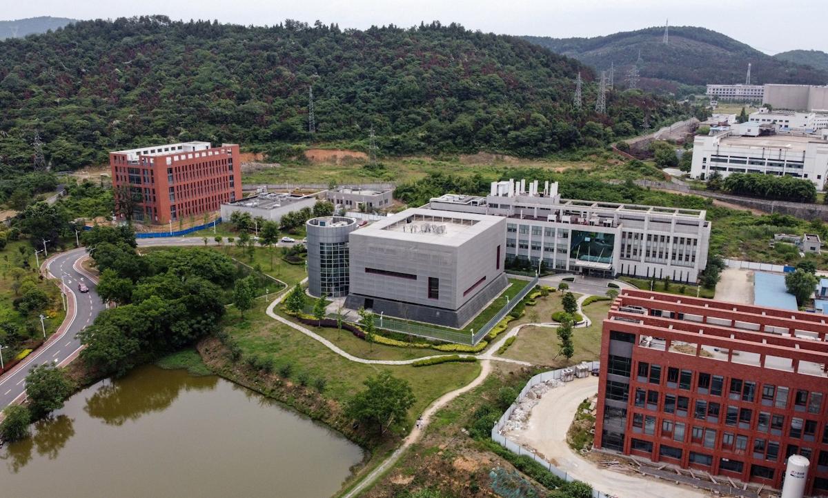 Phòng thí nghiệm BSL-4 (giữa) tại Viện Virus học Vũ Hán vào tháng 5/2020. Ảnh: AFP.