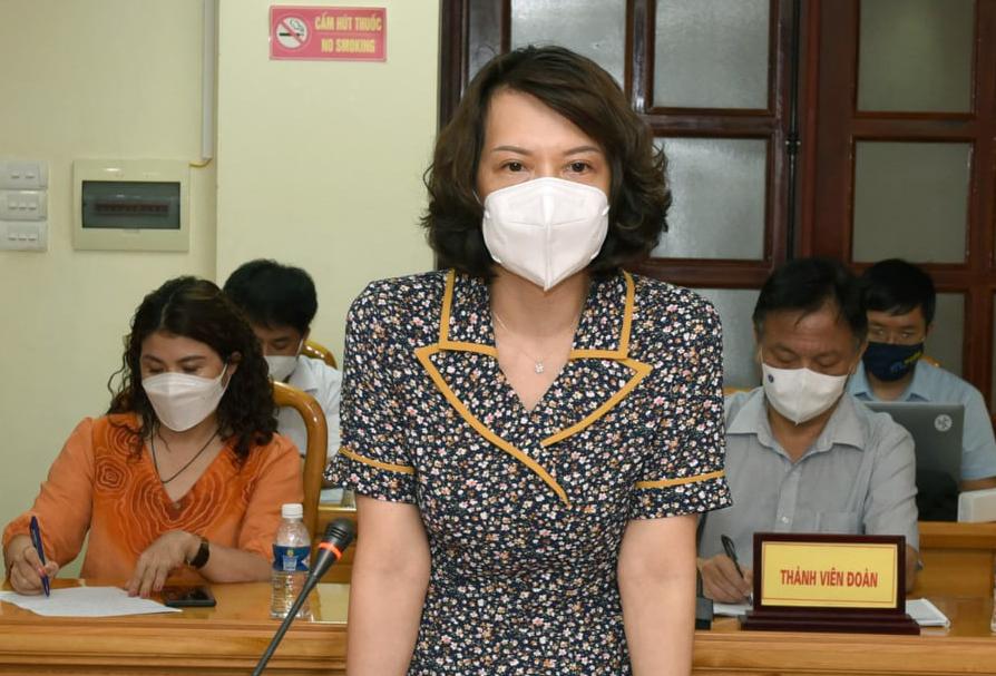Bà Nguyễn Thị Liên Hương, Cục trưởng Quản lý môi trường y tế. Ảnh: Hoàng Phong