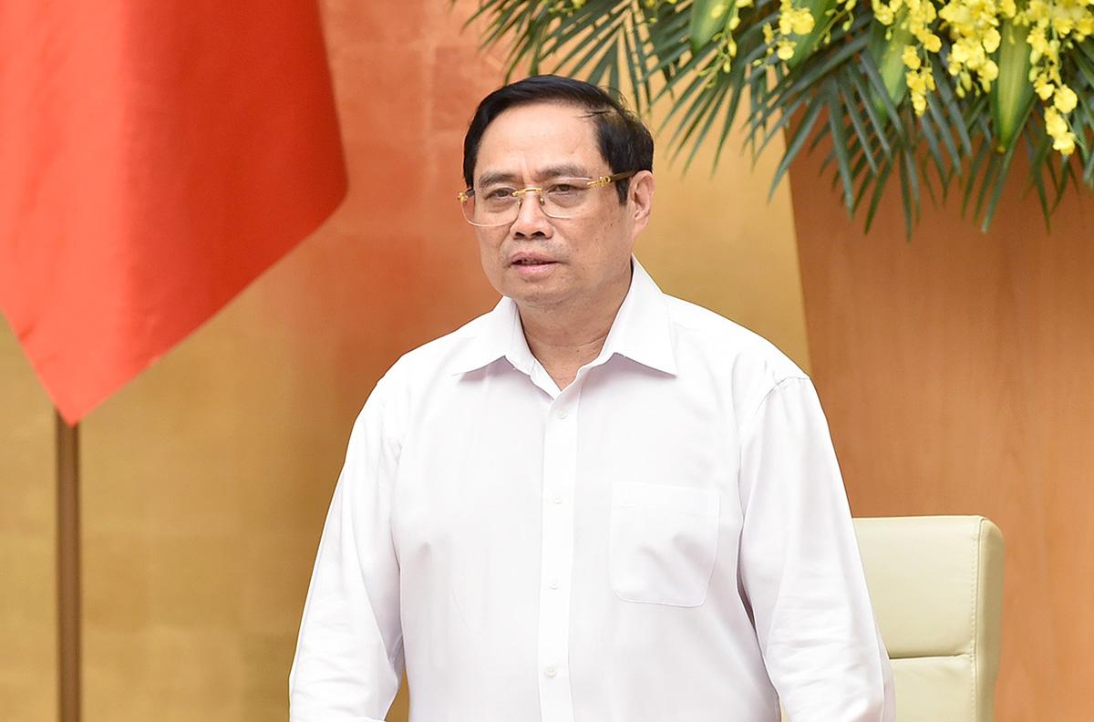 Thủ tướng Phạm Minh Chính chủ trì phiên họp Chính phủ thường kỳ, ngày 1/7. Ảnh: Nhật Bắc