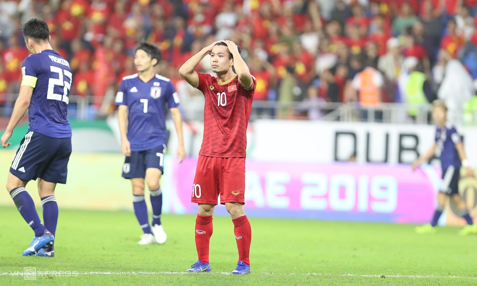 Cong Phuong menyayangkan peluang yang terlewatkan saat kalah dari Jepang di perempat final Piala Asia 2019. Foto: Duc Dong