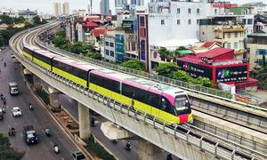 Tàu Nhổn - ga Hà Nội mất 15 phút chạy toàn tuyến trên cao