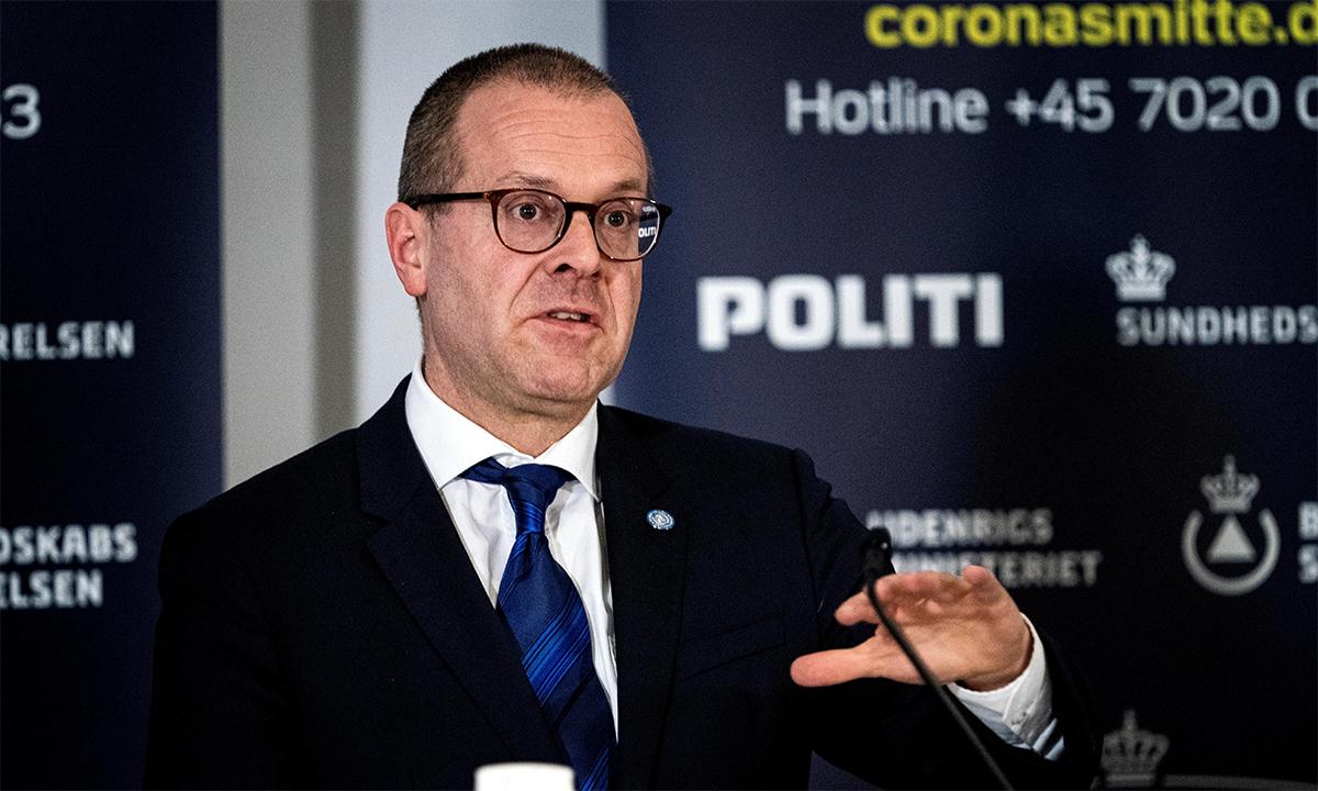 Giám đốc WHO khu vực châu Âu Hans Kluge trong cuộc họp báo ở Đan Mạch tháng 3/2020. Ảnh: Reuters.