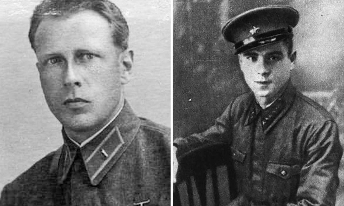 Thiếu tá Dulkayt (trái) và thượng sĩ Meyer. Ảnh: RBTH.