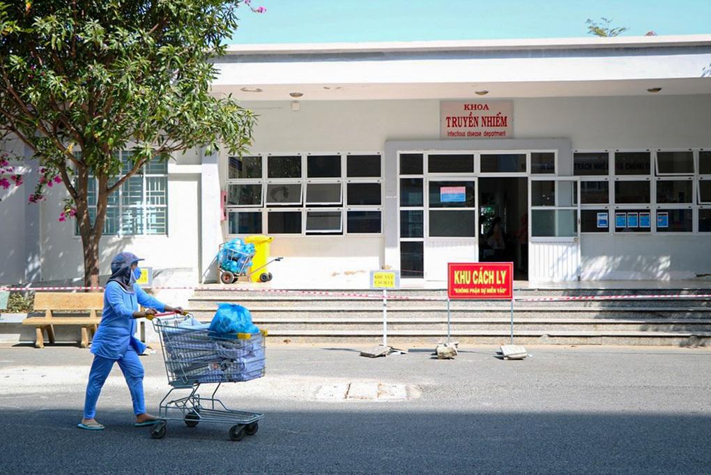 Khoa Truyền nhiễm, nơi điều trị bệnh nhân Covid-19 tại Bệnh viện Đa khoa Ninh Thuận. Ảnh: Trường Nguyên.