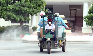 Tổng lực khử khuẩn huyện nhiều ca nhiễm nhất Bắc Giang