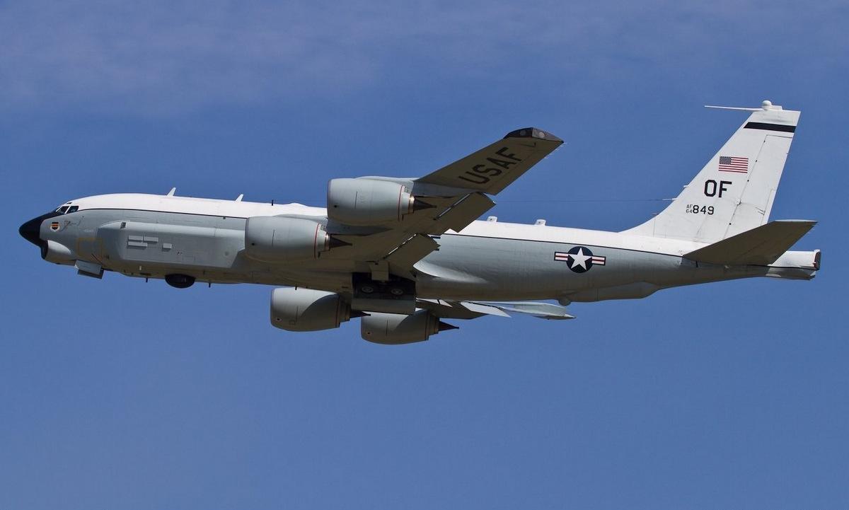 Máy bay RC-135U số hiệu 64-1849 làm nhiệm vụ năm 2020. Ảnh: USAF.