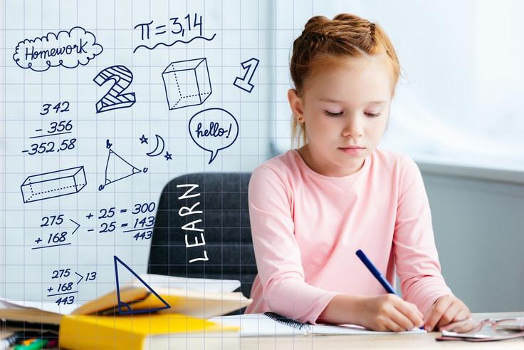 Toán học giúp trẻ phát triển tư duy. Để có thành tích học tốt, ba mẹ cần đồng hành cùng con. Ảnh: cuemath.