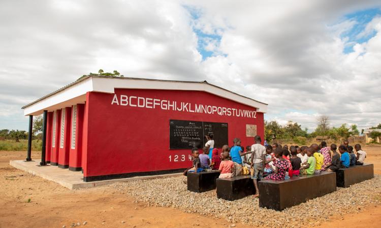 Trường học in 3D do công ty 14Trees xây dựng. Ảnh: CDC Group.