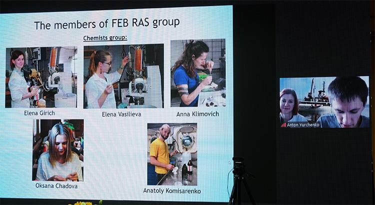 Các nhà khoa học chia sẻ kết quả nghiên cứu từ đầu cầu Nga.