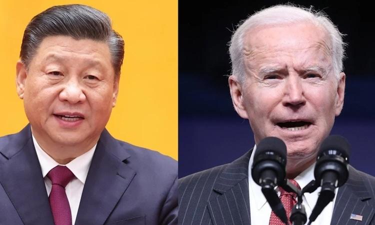 Chủ tịch Trung Quốc Tập Cận Bình (trái) và Tổng thống Mỹ Joe Biden. Ảnh: SCMP.