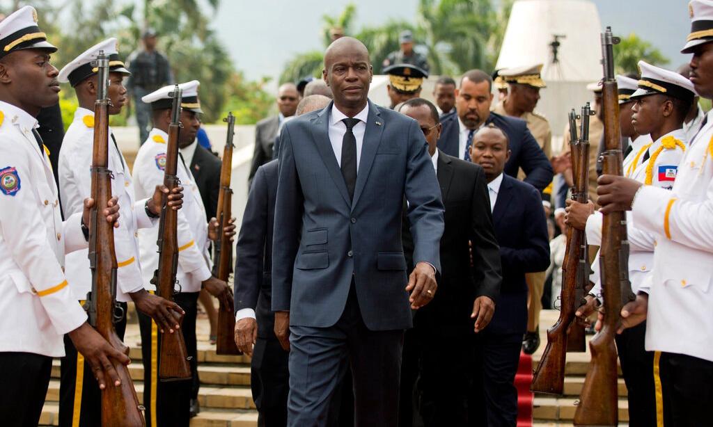 Tổng thống Haiti Jovenel Moise tại thủ đô Port-au-Prince hồi năm 2018. Ảnh: AP.
