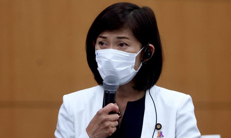 Bộ trưởng Olympic Tamayo Marukawa tại cuộc họp ở Tokyo, Nhật Bản hôm nay. Ảnh: AFP.