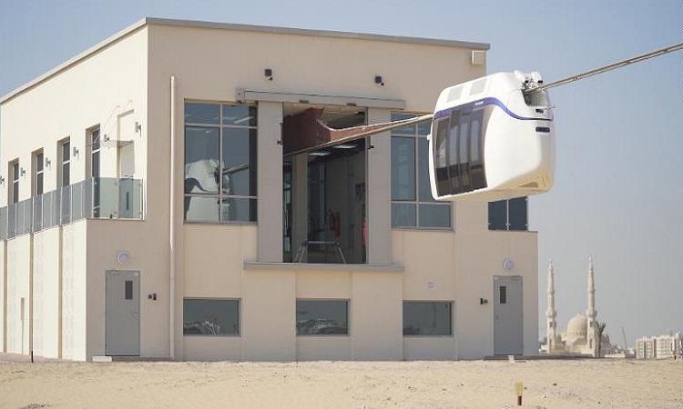 Khoang tàu được thử nghiệm tại Công viên công nghệ và sáng tạo Sharjah. Ảnh: uSky Transport.