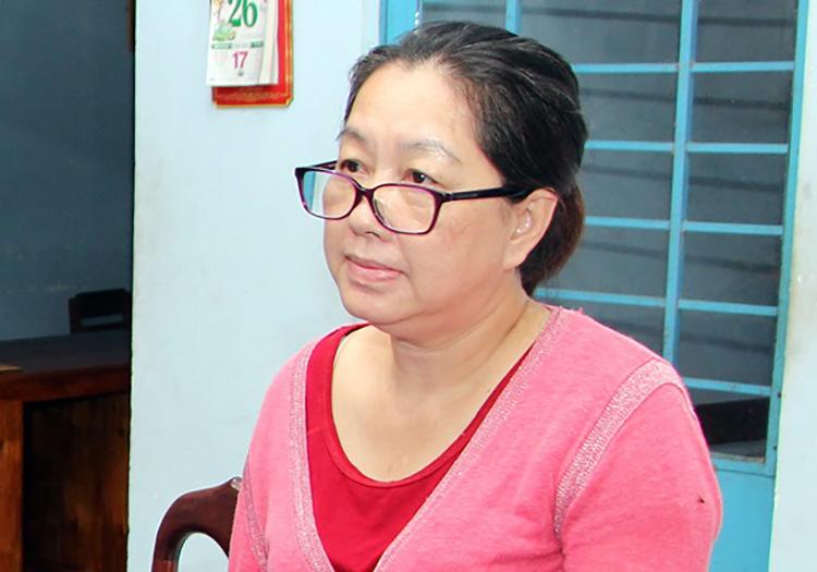 Bà Nguyễn Thị Kim Hạnh khi bị bắt giữ. Ảnh: An Phú
