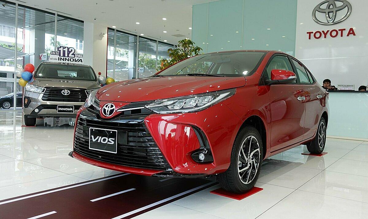 Toyota Vios 2021 tại một đại lý ở TP HCM. Ảnh: Phạm Trung