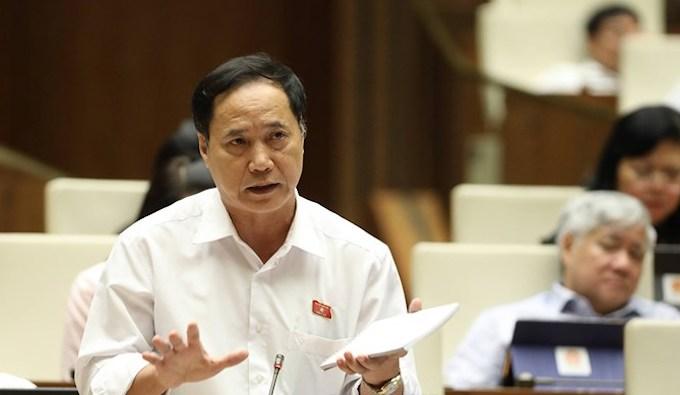 Đại biểu Nguyễn Mai Bộ (Ủy ban Quốc phòng An ninh). Ảnh: Trung tâm báo chí Quốc hội