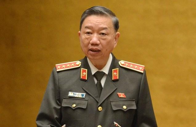 Bộ trưởng Công an Tô Lâm. Ảnh: Trung tâm báo chí Quốc hội
