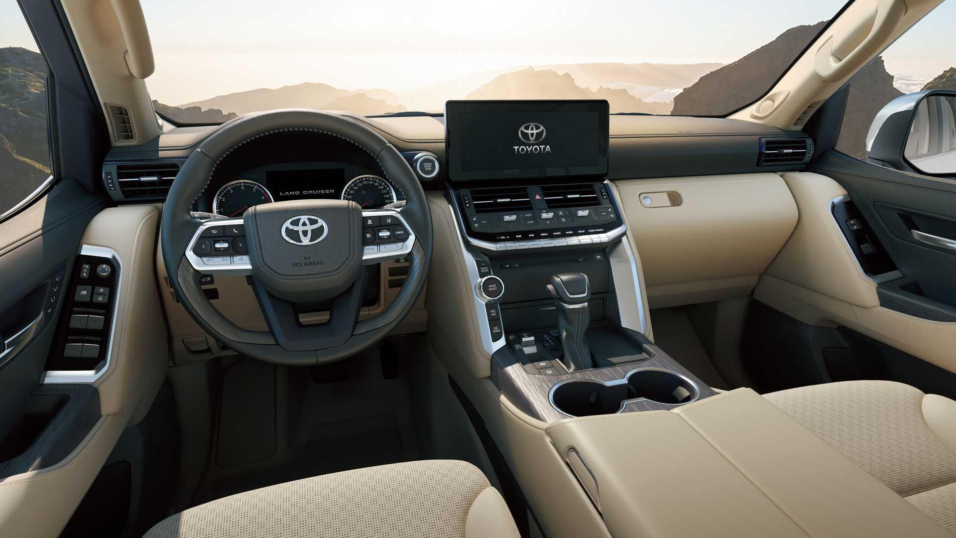 Nội thất Land Cruiser mới. Ảnh: Toyota