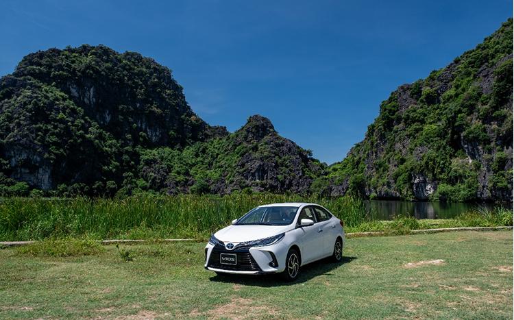 Toyota Vios 2021 trong một chuyến trải nghiệm.
