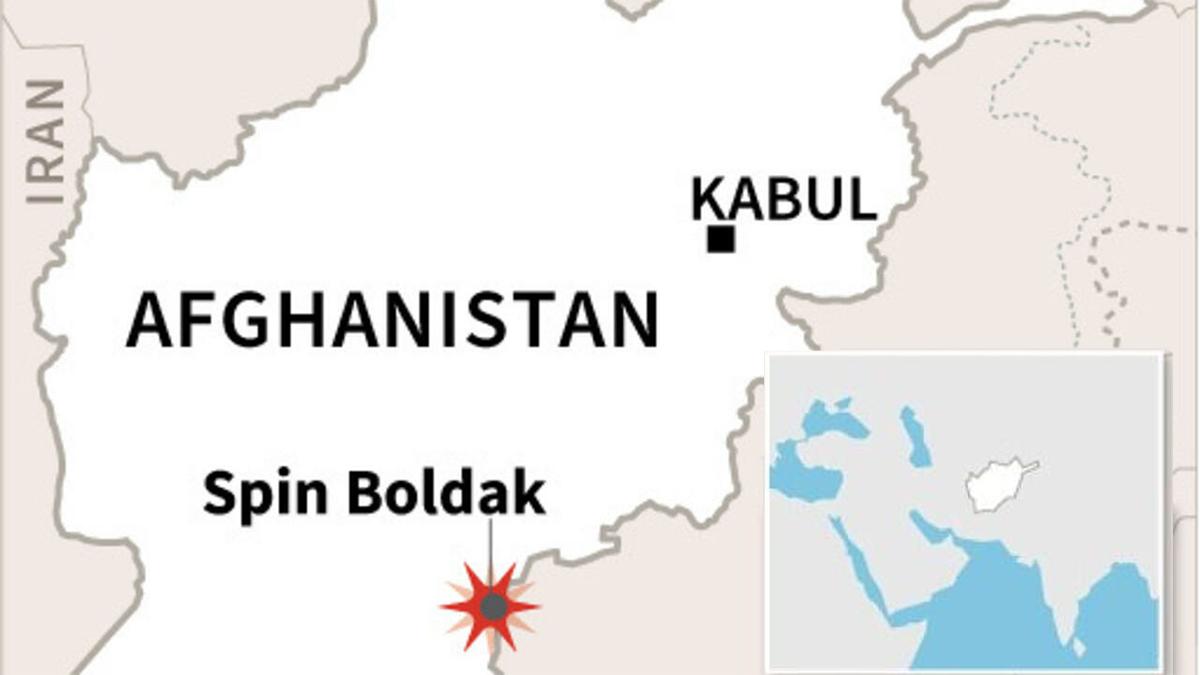 Vị trí cửa khẩu Spin Boldak. Đồ họa: AFP.