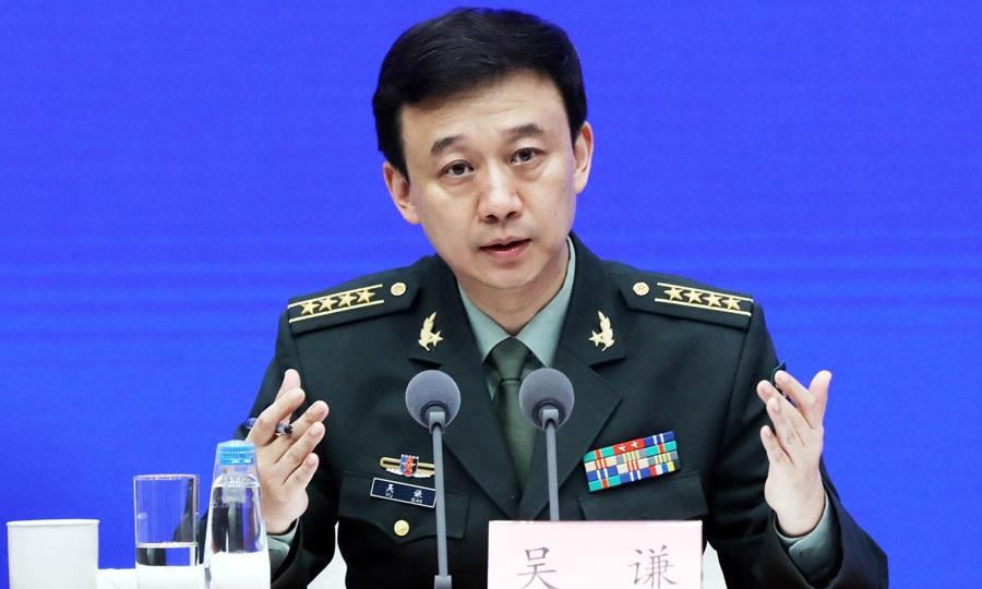 Phát ngôn viên Bộ Quốc phòng Trung Quốc Ngô Khiêm. Ảnh: China Daily.