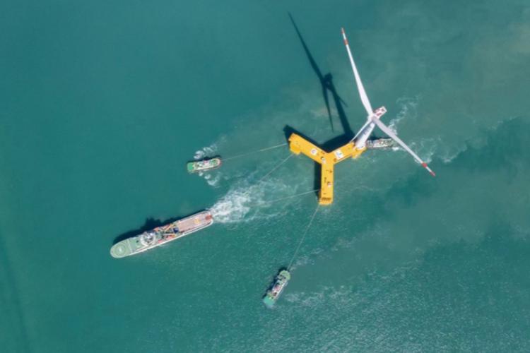 Turbine mới là một đột phá trong công nghệ điện gió ngoài khơi của Trung Quốc. Ảnh: Offshore Wind.