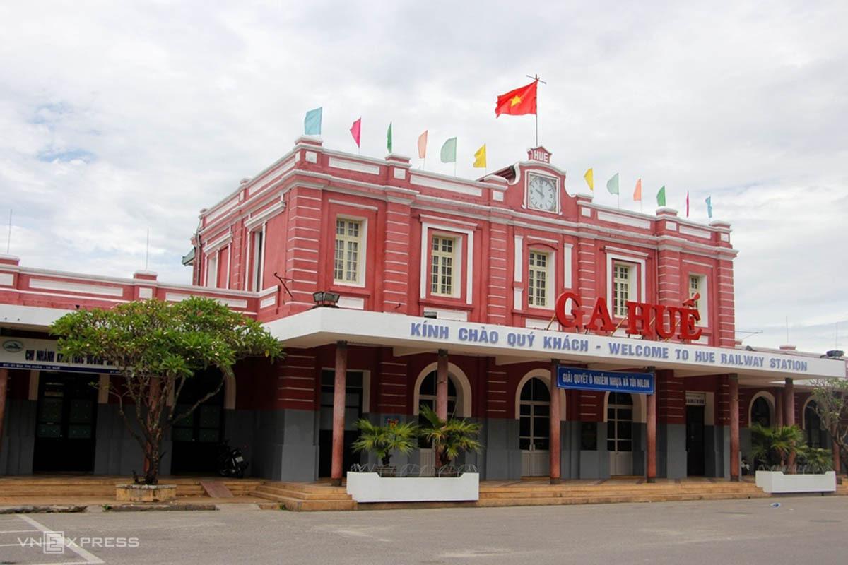 Thừa Thiên Huế dự kiến đưa công dân từ TP HCM trở về bằng tàu hỏa dừng ở Ga Huế. Ảnh: Võ Thạnh