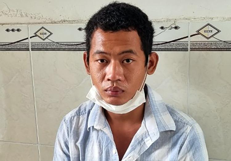 Nguyễn Văn G tại cơ quan điều tra. Ảnh: Lan Vy