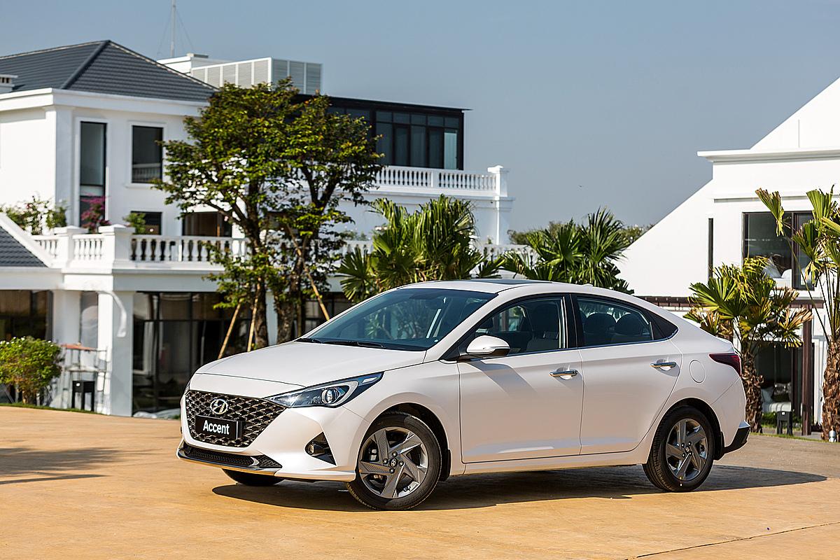 Hyundai Accent lăn bánh tại Ninh Bình. Ảnh: TC Motor