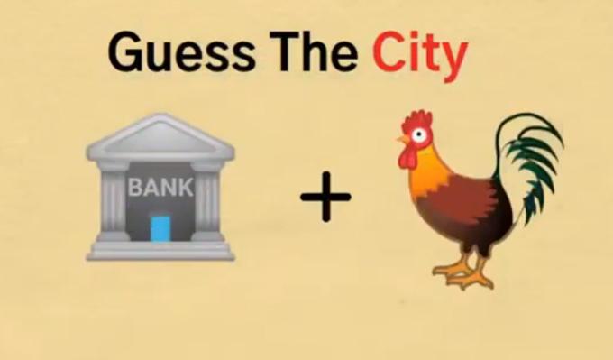 Thử thách đoán tên thành phố