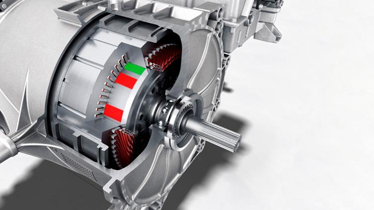 Động cơ không đồng bộ trên Porsche Taycan.