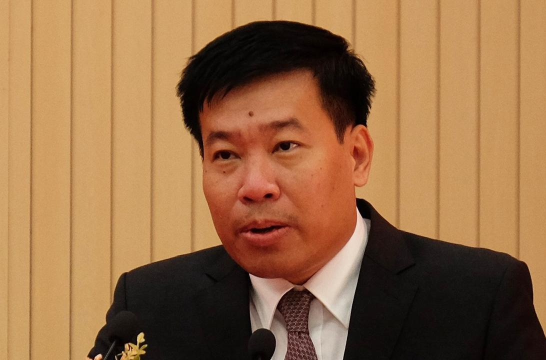 Ông Nguyễn Mạnh Cường phát biểu khi nhận nhiệm vụ mới ngày 19/7. Ảnh: Văn Trăm
