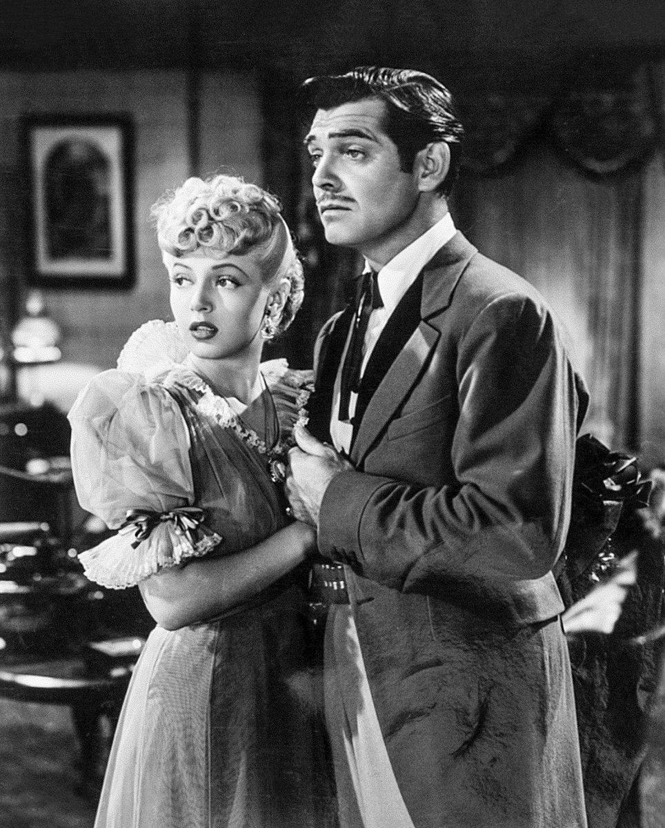 Lana Turner và Clark Gable trong phim Honky Tonk. năm 1941. Ảnh: Twitter