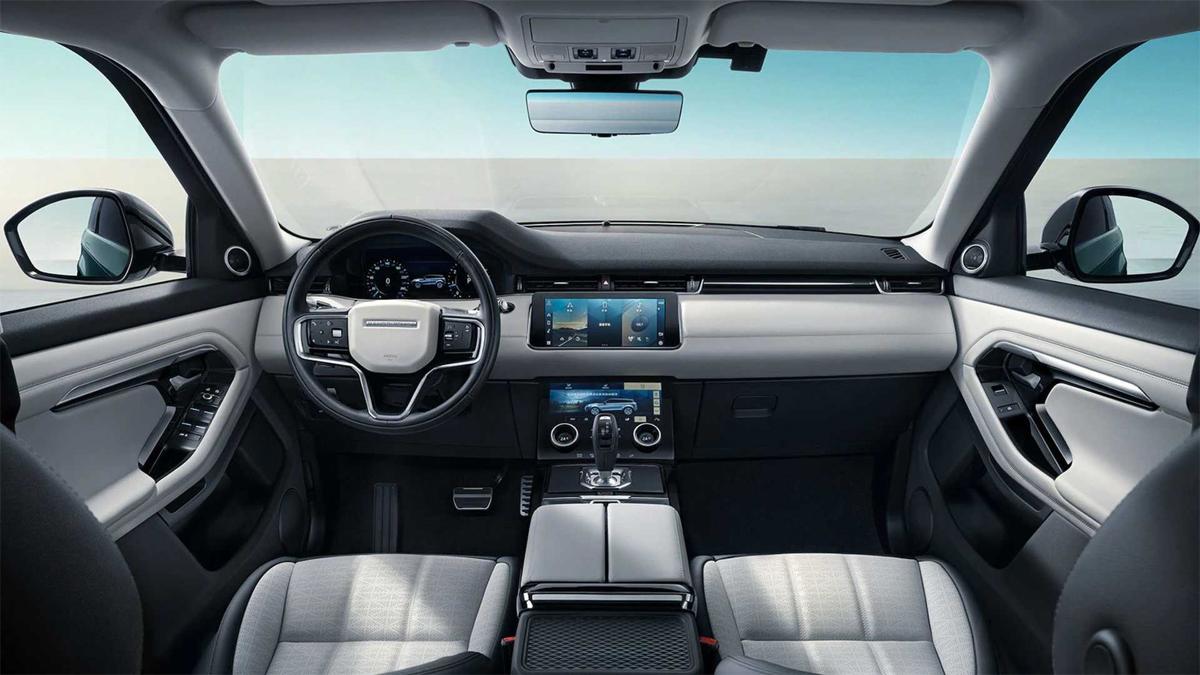 Đồng hồ LCD và màn hình đôi 10,2 inch. Ảnh; Land Rover