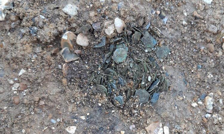 Những đồng xu tồn tại từ hơn 2.000 năm trước. Ảnh: HS2.