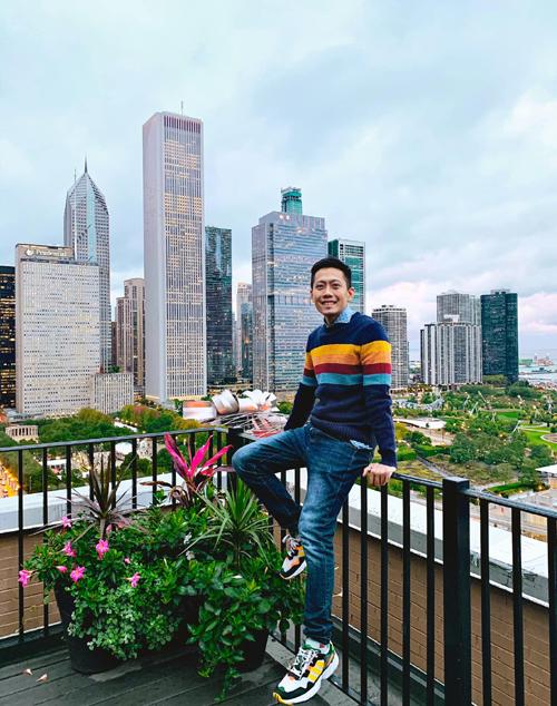 Anh Phước trong chuyến công tác tới Chicago, Mỹ, năm 2018. Ảnh: NVCC.