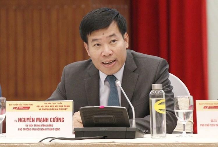 Ông Nguyễn Mạnh Cường lúc còn giữ chức Phó ban Đối ngoại Trung Ương. Ảnh: ĐCS
