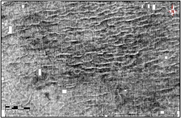 Dấu vết sóng thần được lưu giữ trong trầm tích ở Louisiana, Mỹ. Ảnh: Kaare Egedahl.