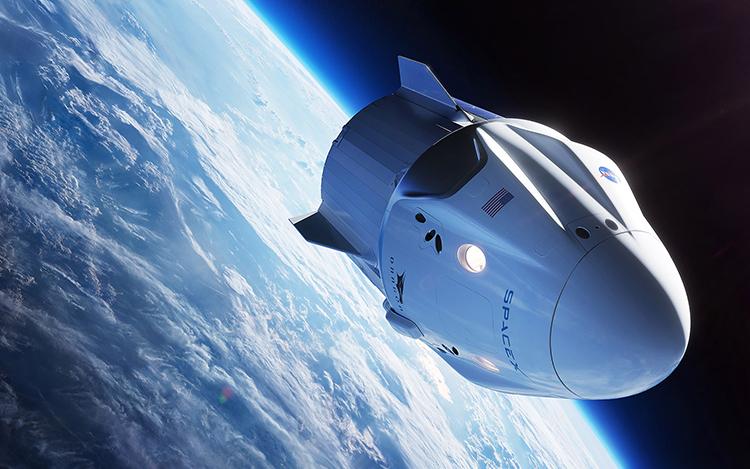 Tàu Crew Dragon của SpaceX được phóng lên bằng tên lửa Falcon 9. Ảnh: Space.
