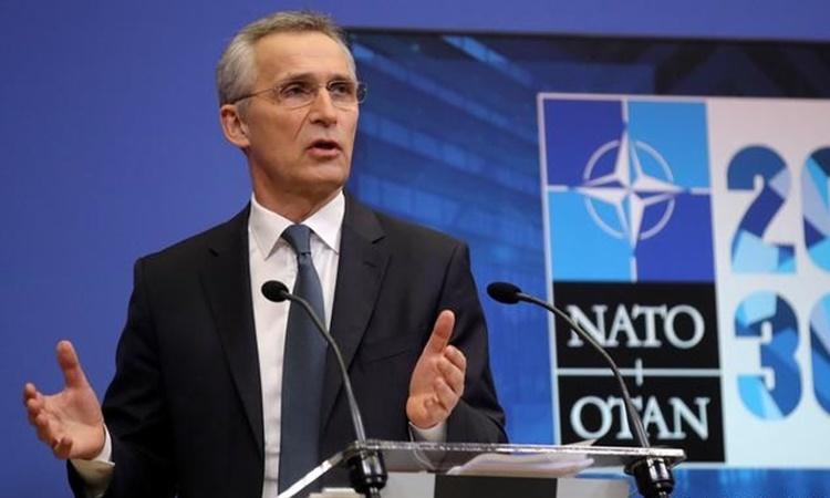 Tổng thư ký NATO Jens Stoltenberg. Ảnh: AP.