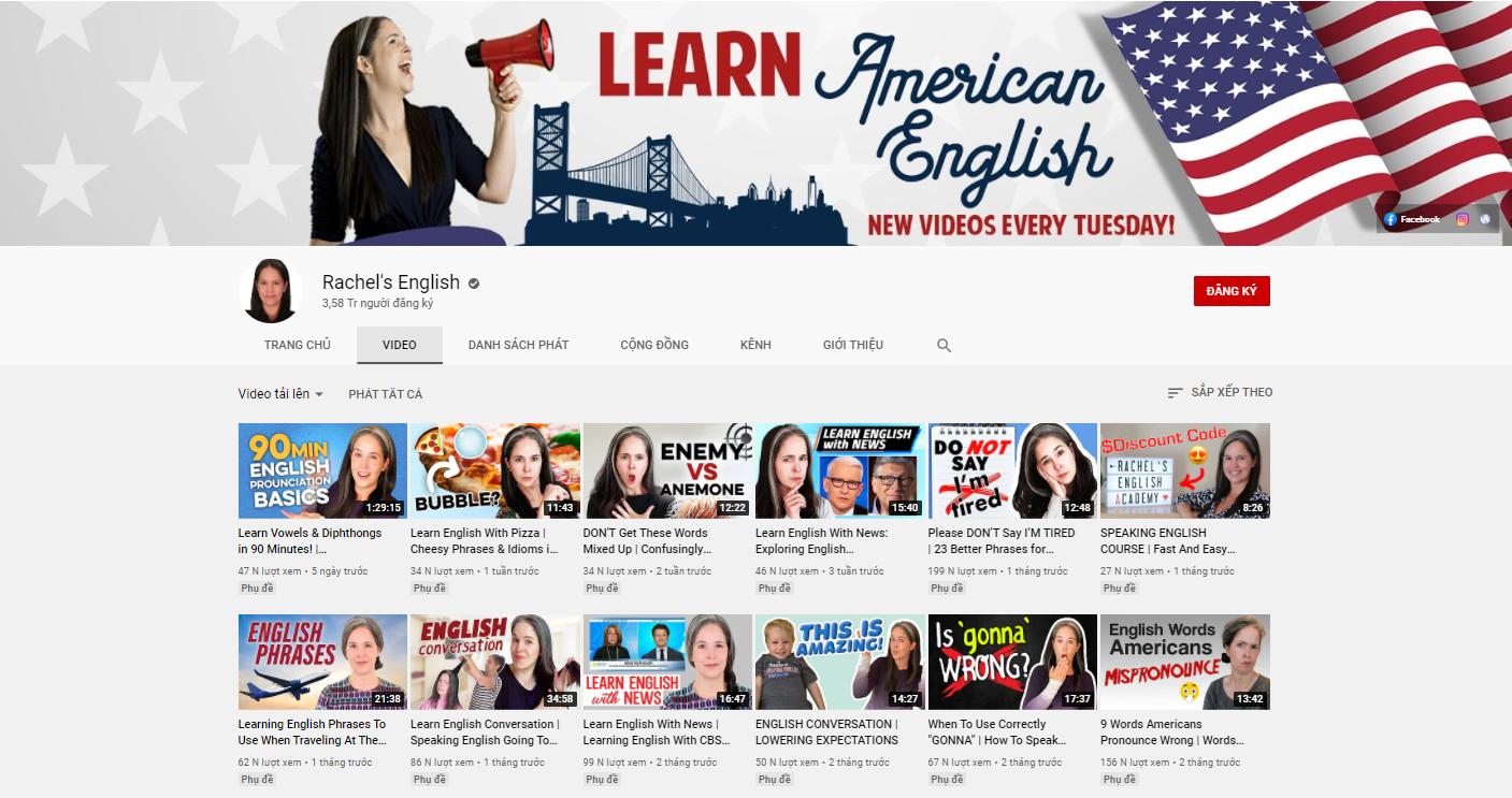 Kênh Rachel's English