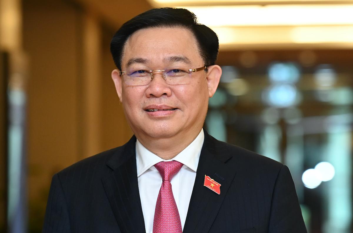 Chủ tịch Quốc hội khóa XIV Vương Đình Huệ. Ảnh: Giang Huy