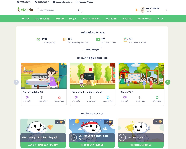 VioEdu tạo môi trường vận dụng, cọ xát kiến thức toán cho học sinh thông qua nhiều sân chơi miễn phí.