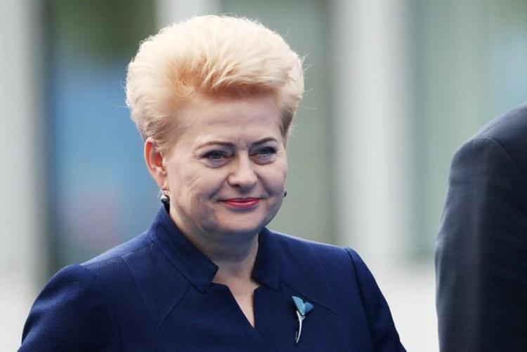 Cựu tổng thống Lithuania Dalia Grybauskaite dự hội nghị thượng đỉnh NATO ở Brussels, Bỉ, tháng 7/2018. Ảnh: Reuters.