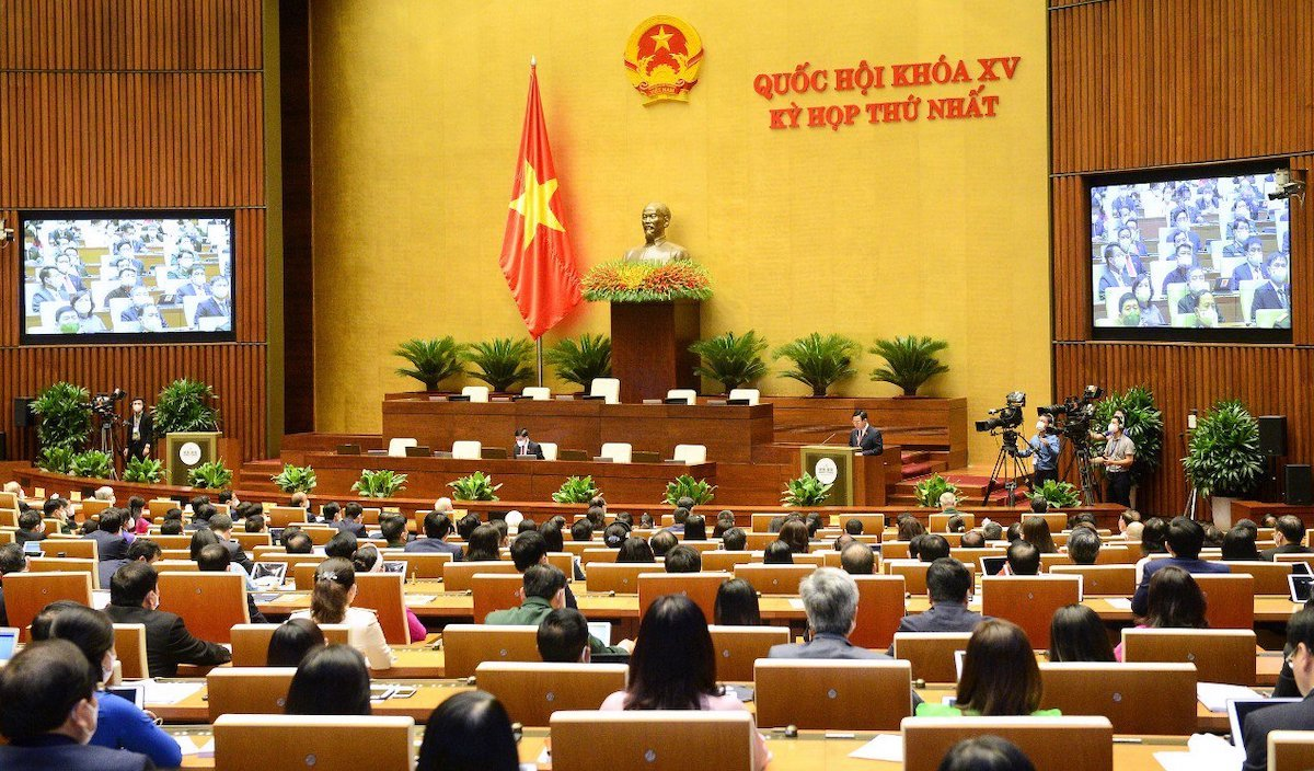 Toàn cảnh phiên khai mạc kỳ họp thứ nhất, Quốc hội khóa XV. Ảnh: Giang Huy.