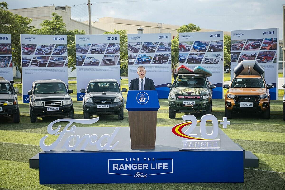 Ông Phạm Văn Dũng, tổng giám đốc Ford Việt Nam tại sự kiện 20 năm Ranger có mặt ở Việt Nam.