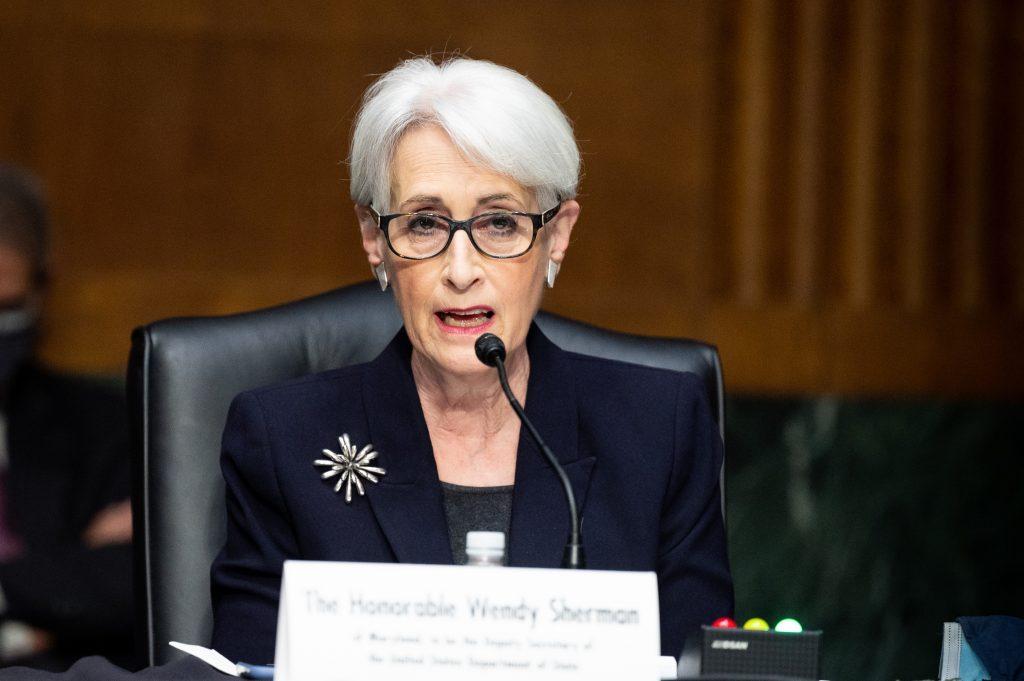 Thứ trưởng Ngoại giao Mỹ Wendy Sherman tại tòa quốc hội Mỹ hồi tháng ba. Ảnh: Reuters.
