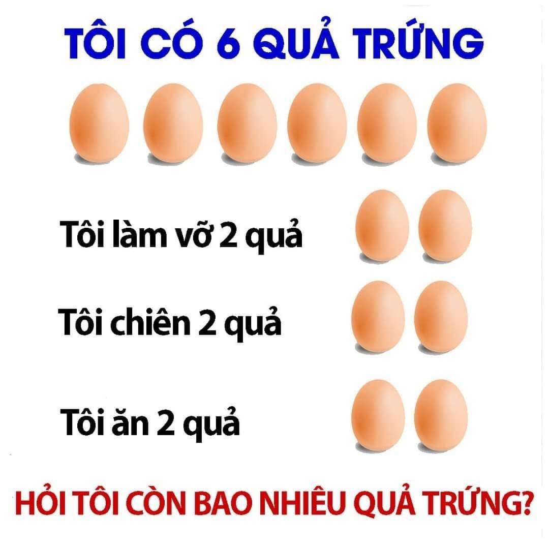 Câu đố quả trứng gây hại não